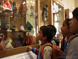 Children visit the Iranak Childhood Museum in Tehran in an undated photo.
