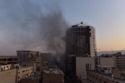 فیلمی از تداوم آتش سوزی در هتل آسمان