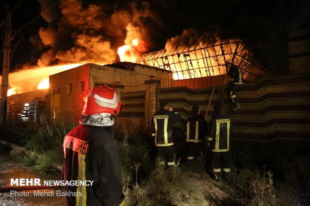 İran'da kimyasal madde fabrikasında yangın