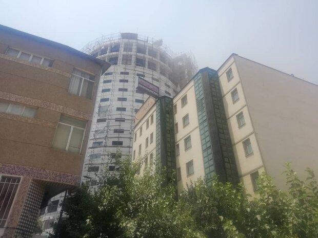 فیلم آتش سوزی هتل آسمان شیراز