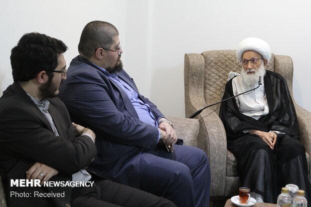 دیدار مدیران و سردبیران رسانههای ایران با آیت الله عیسی قاسم