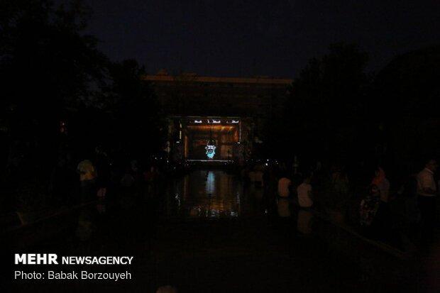 Japan displays 3D-lighting at Golestan Palace in Tehran