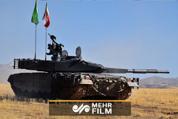 VIDEO: Iranian crews participating in Russia's tank biathlon event