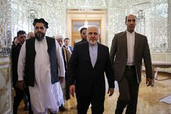 ایرانی وزیر خارجہ سے افغان سینیٹ کے سربراہ کی ملاقات