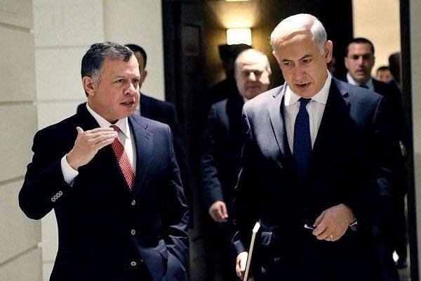پادشاه اردن درخواست دیدار نتانیاهو را نپذیرفت