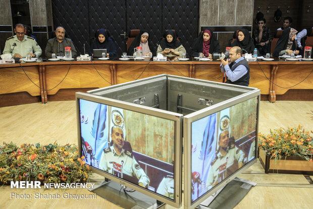 مراسم روز خبرنگار در مرکز فرماندهی نیروی انتظامی