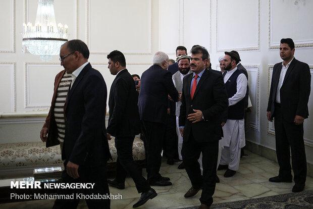 دیدار وزیر امور خارجه و رئیس مجلس سنای افغانستان