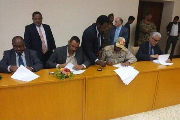 سوڈان میں فوجی حکمرانوں اور مظاہرین کے درمیان معاہدے پر دستخط