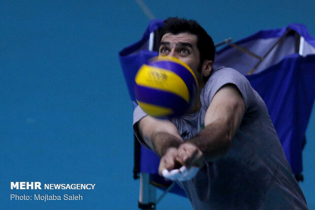 Iran volleyball's final training session before departing for Russia