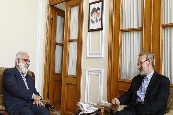 دیدار رئیس جدید کمیته امداد امام خمینی (ره) با علی لاریجانی