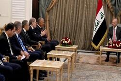 وزرای خارجه مصر و اردن با رئیس جمهور عراق دیدار کردند