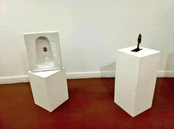 رونمایی از «سنگ توالت ۵۰ میلیونی» به عنوان اثر هنری!