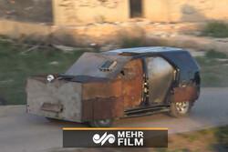 فیلمی از انهدام خودروی بمبگذاری شده در افغانستان