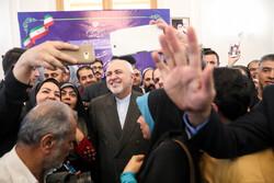 المؤتمر الصحفي لوزير الخارجية الايراني / صور