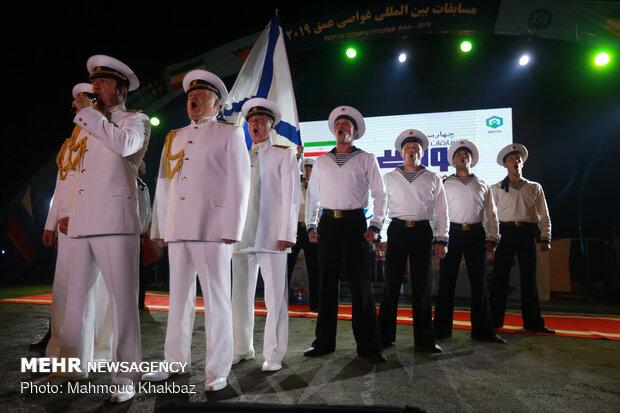 """افتتاحية العاب الغطس العميق لجيوش العالم  2019 في جزيرة """"كيش"""""""""""