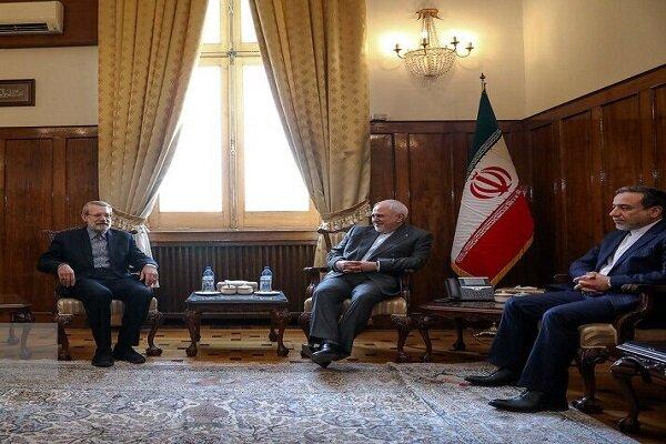 Iranian Parl. speaker thanks FM Zarif for salient achievements taken in intl. arena