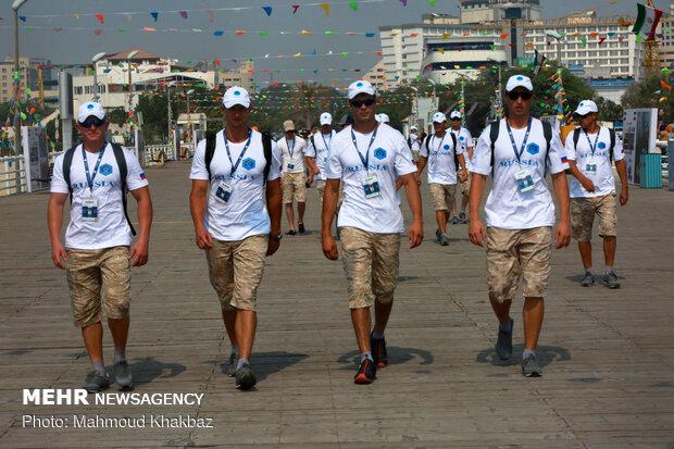 """المرحلة الاولى من مسابقات الغطس لجيوش العالم في جزيرة """"كيش"""""""