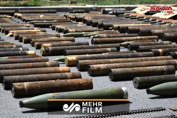 شام میں دہشت گردوں کے باقیماندہ ہتھیاروں کی تصاویر