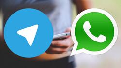 «واتس اپ» در حال سبقت از «تلگرام»
