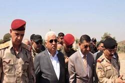ورود مقامات ارشد نظامی عراقی به همراه فالح فیاض به موصل