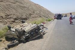 واژگونی خودرو پژو در محور بروجرد- اراک یک کشته بر جای گذاشت