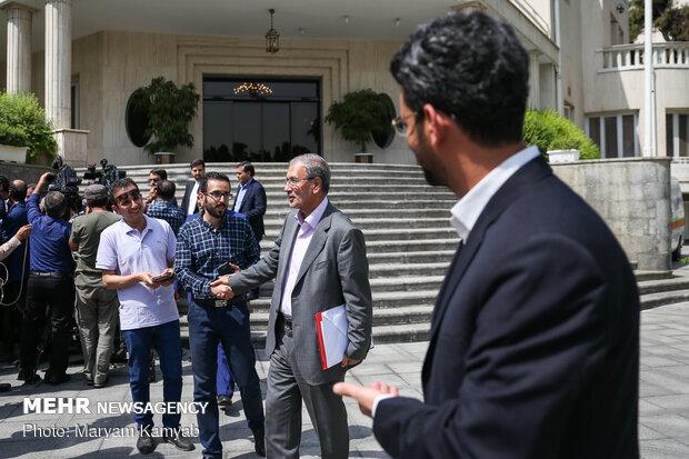 حضور الرئيس حسن روحاني في جمع للصحفيين