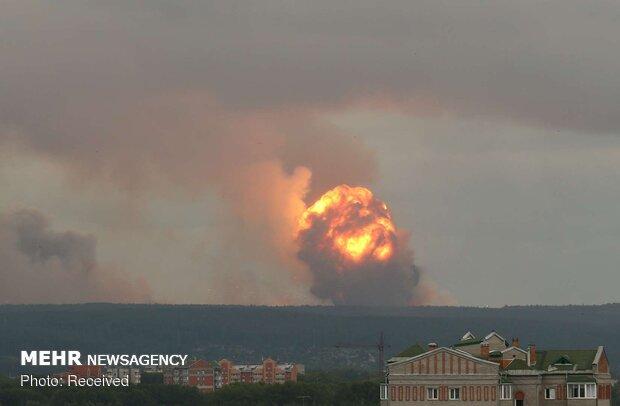 انفجار در یک زاغه مهمات در روسیه