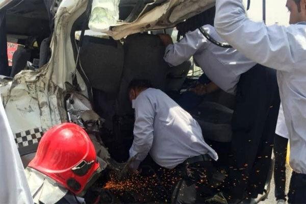 تصادف در جاده بومهن/۱۰ نفر مصدوم شدند