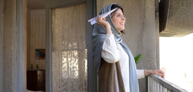 """Leila Hatami acts in a scene from director Peyman Maadi's drama """"Bomb, a Love Story""""."""