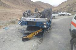 واژگونی وانت نیسان در اهواز ۲ نفر را به کام مرگ کشاند