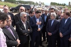 معاون رئیس جمهور از پروژه های در دست اجرای استان گیلان بازدید کرد