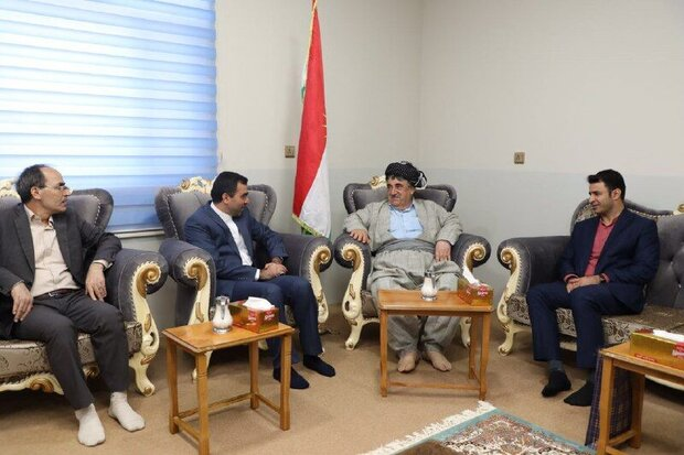 Iranian envoy, KSDP leader hold talks in Sulaymaniyah