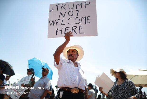 Trump'a protesto