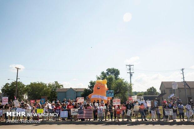 سفر ترامپ به تگزاس و اوهایو در میان اعتراضات