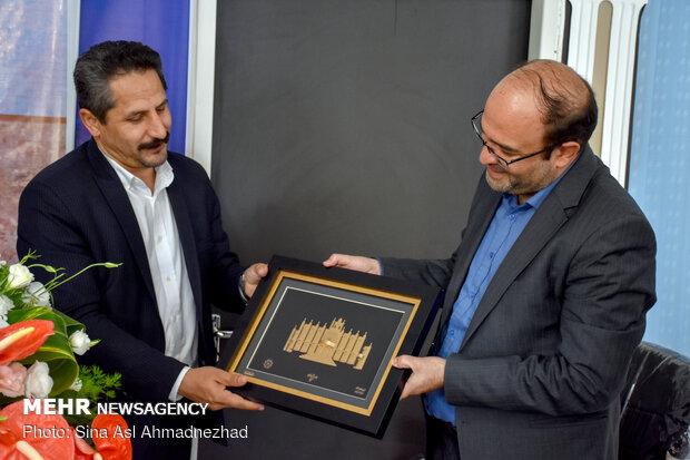 حضور  ایرج شهینباهر شهردار تبریز در دفتر خبرگزاری مهر آذربایجان شرقی