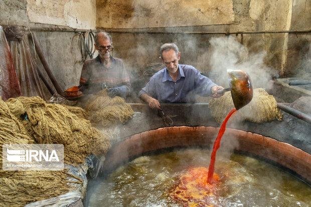 Traditional dyeing workshops still popular in Iran