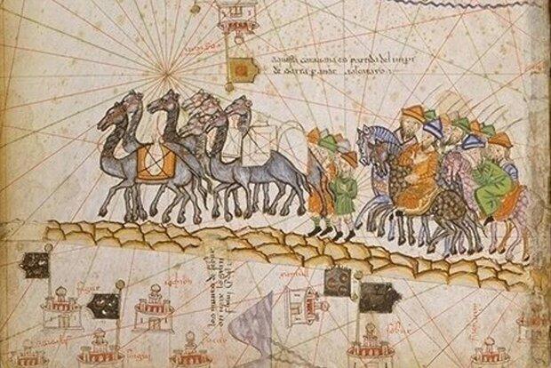 Caravan on the Silk Road, 1380 CE