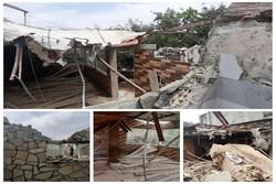 یک رستوران در جاده «حیدره» شهر همدان تخریب شد