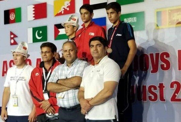بوکسور نونهال گیلانی مدال برنز مسابقات قهرمانی آسیا را کسب کرد