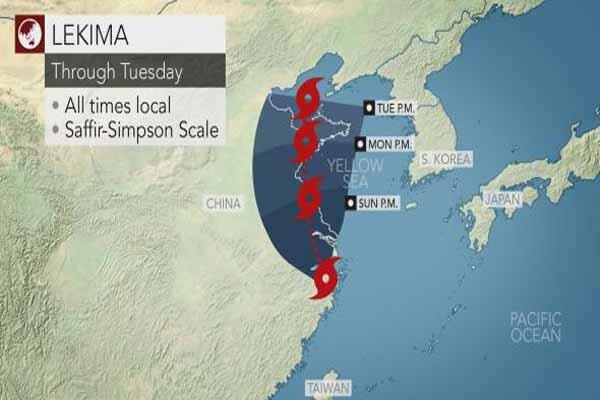 طوفان و رانش زمین در شرق چین/۱۸ کشته و ۱۴ ناپدید