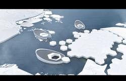 زیردریایی که آب دریا را به یخ تبدیل می کند