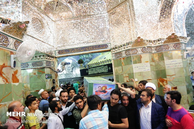 تشییع شهید مدافع حرم ابراهیم توسلی