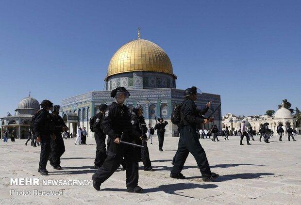 İsrail güçleri Mescid-i Aksa'da 5 Filistinliyi gözaltına aldı