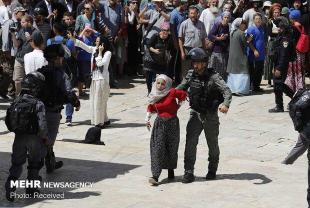 حمله نظامیان صهیونیستی به نمازگزاران عید قربان