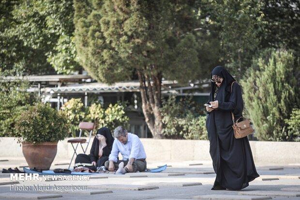 مراسم پرفیض دعای عرفه در بهشت زهرا(س)