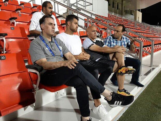 حضور مدافع تیم ملی فوتبال ایران در تمرین ذوب آهن