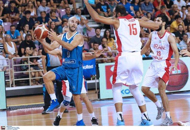 Greece basketball team too strong for Iran