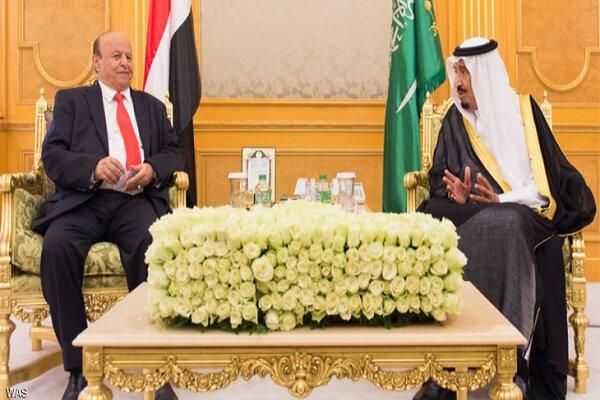 سعودی عرب کے بادشاہ اور یمن کے مستعفی صدر کی ملاقات