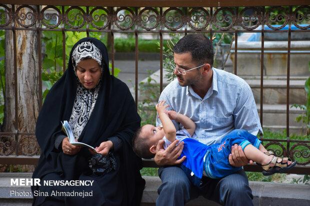 People perform Arafa Day prayers in Tabriz