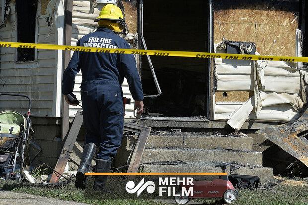امریکہ میں آگ لگنے کے نتیجے میں 5 بچے ہلاک